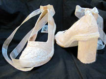 Lacy Comfortable Canvas Wedding Shoes