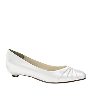 Dyeable Satin Bridal Low Heel shoes for weddings
