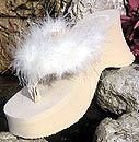 Bridal Flipo Flops in White and Ivory