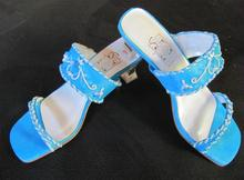 Bridesmaid Teal Beaded Sandals